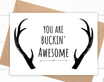 Antler Thank You Card