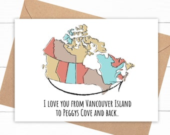 Canada I Love You Card