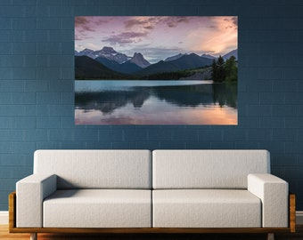 Mountain Sunset Photography Print and Canvas Wall Art