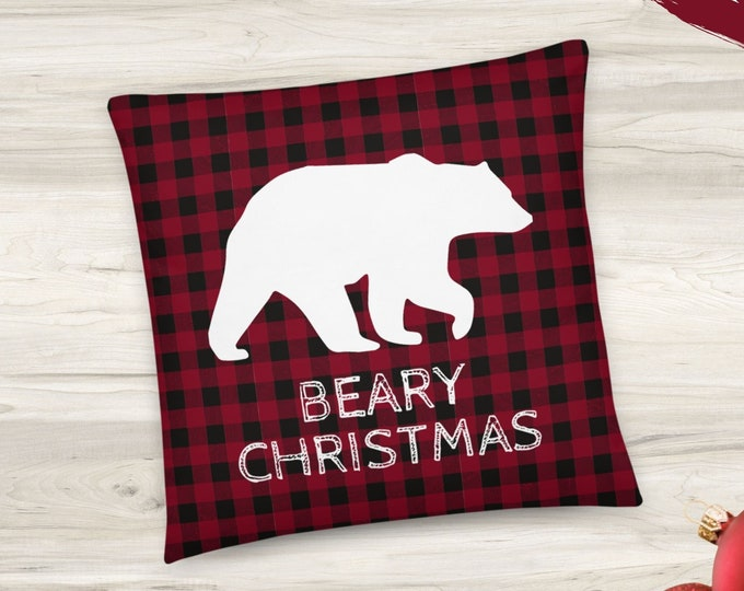 Bear Christmas Pillow
