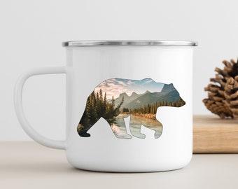 Mountain Bear Campfire Mug