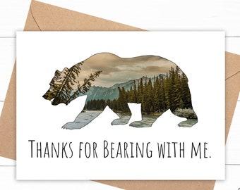 Funny Bear Thank You Card