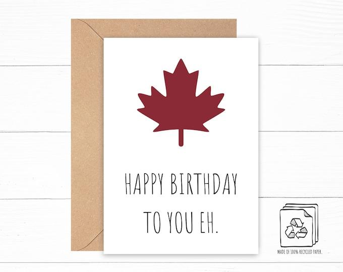 Canada Birthday Card