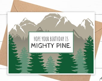 Pine Tree Birthday Card