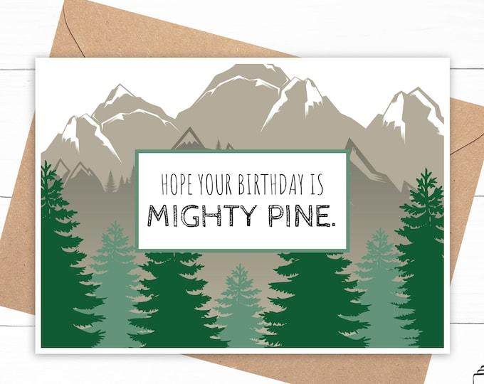Pine Tree Birthday Card