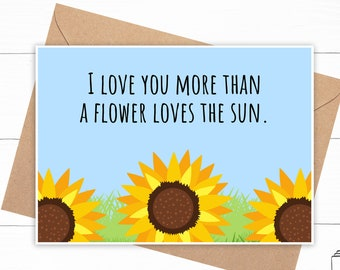 Sunflower Love Card