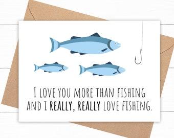 Funny Fishing Love Card