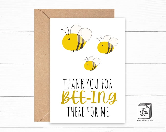 Funny Bee Thank You Card