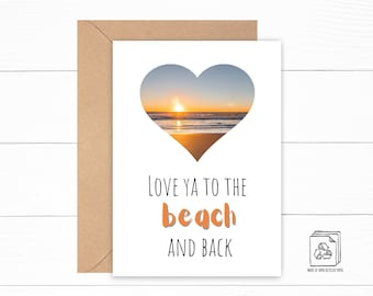 Beach Love Card