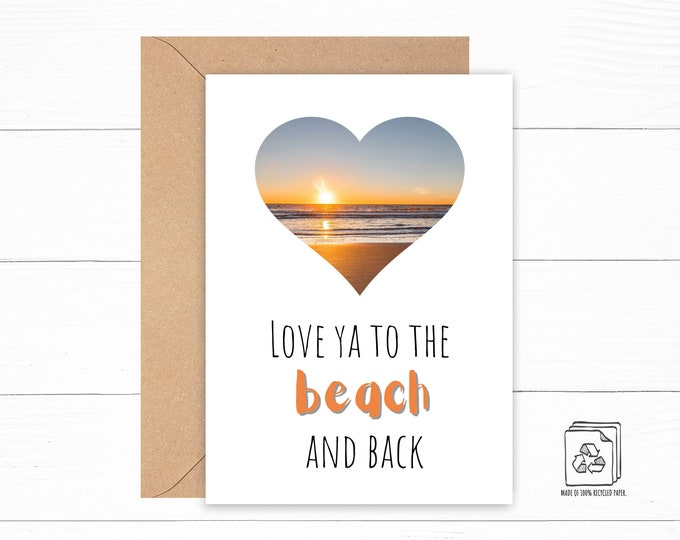 Featured listing image: I Love You to the Beach and Back Card