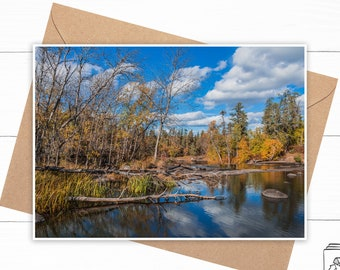 Personalized Autumn Greeting Card
