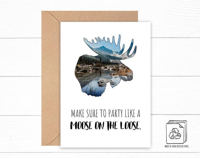 Moose Birthday Card