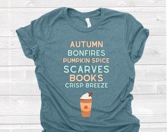 Pumpkin Spice Latte Shirt - Autumn Shirt - Fall Shirt - Cozy T Shirt - Camping Shirt - Hiking Tee - Coffee T Shirt - Coffee Drinker Gift