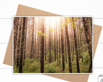 Personalized Mountain Forest Card