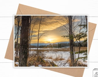 Personalized Forest Greeting Card