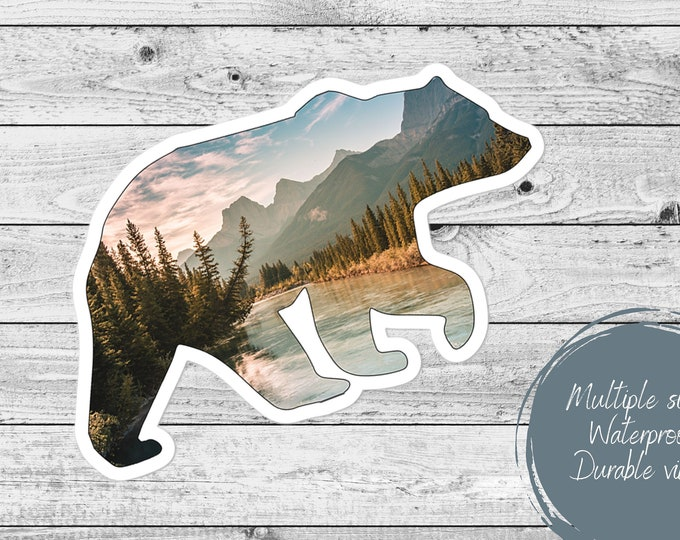 Featured listing image: Mountain Bear Sticker
