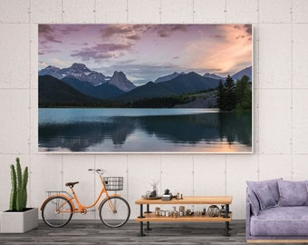 Mountain Sunset Canvas Wall Art