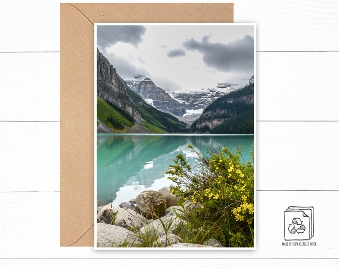 Floral Mountain Greeting Card