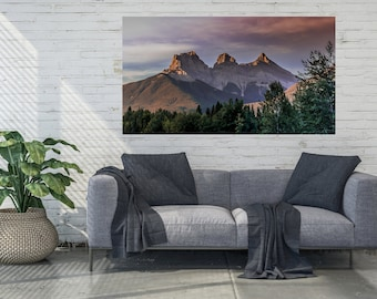 Mountain Sunrise Canvas Wall Art