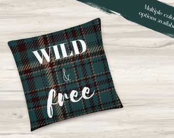 Wild and Free Throw Pillow