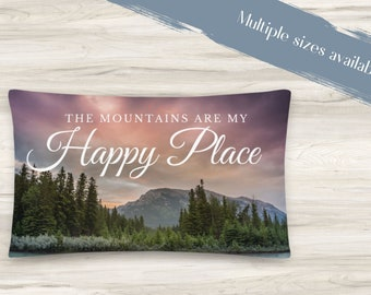 My Happy Place Throw Pillow