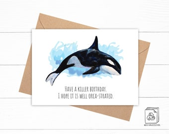 Killer Whale Birthday Card