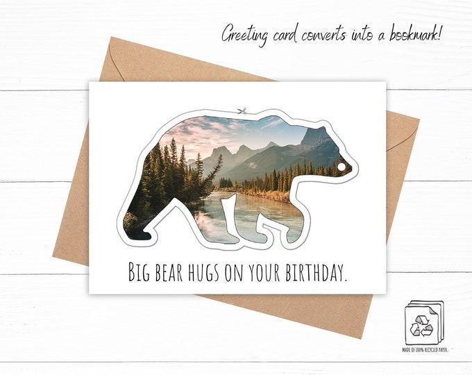 Bear Bookmark Birthday Card