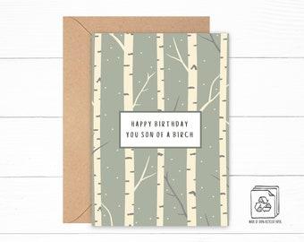 Birch Tree Birthday Card