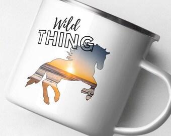 Enamel Horse Mug