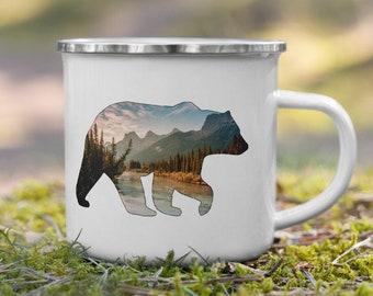 Mountain Bear Enamel Mug