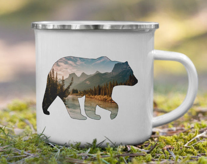 Mountain Bear Enamel Mug