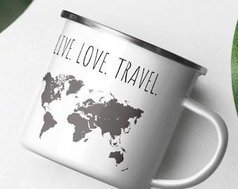 Travel Quote Enamel Mug