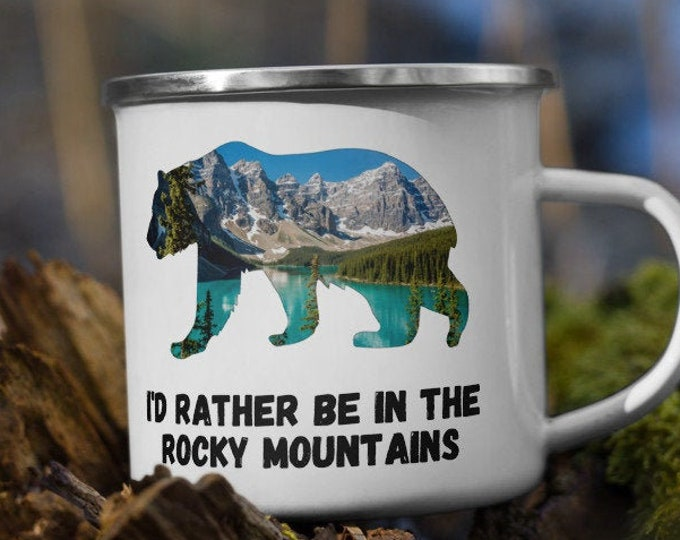 Rocky Mountains Enamel Mug