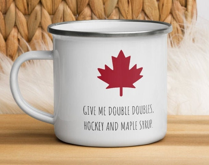 Enamel Canada Mug