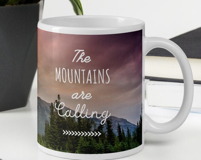 Featured listing image: The Mountains are Calling Mug