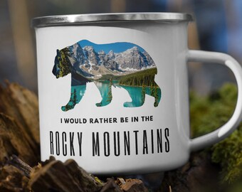 Enamel Rocky Mountains Mug