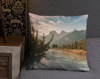 Rustic Mountains Pillow