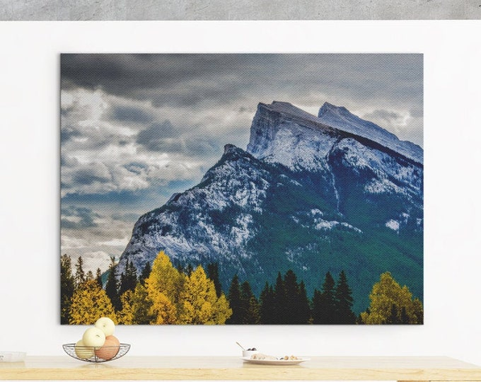 Mountain Photography Print Large Canvas Wall Art Rustic Home Decor Living Room Art Fall Home Decor Mountain Wall Art Nature Photography
