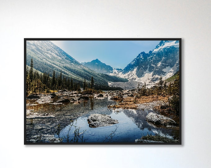 Banff Photography Print, Mountain Wall Art, Nature Photography, Canada Photography, Rustic Home Decor