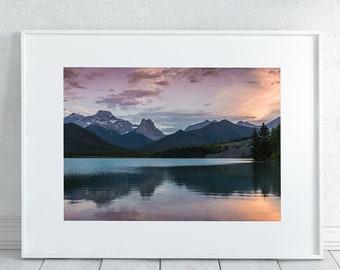 Mountain Sunset Photography Print