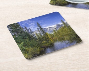 Mountain Forest Paper Coasters Set of 6