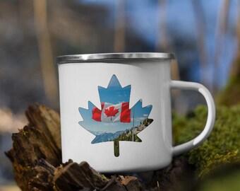 Enamel Maple Leaf Canada Mug