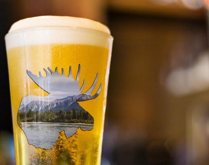 Rocky Mountain Moose Pint Glass