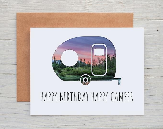 Happy Birthday Happy Camper Greeting Card