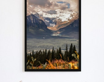 Lake Louise from Above Wall Art Print and Canvas Wall Decor