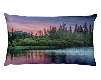 Forest Sunset Pillow (Canmore, Alberta)
