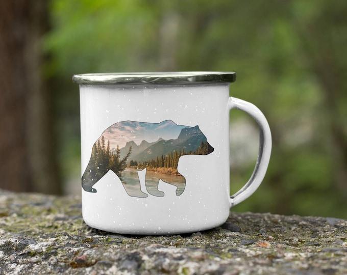 Featured listing image: Mountain Bear Enamel Mug