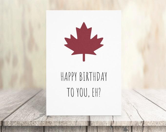 Funny Canada Birthday Card