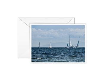 Blank Sail Boat Card