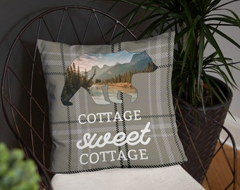 Cottage Sweet Cottage Throw Pillow